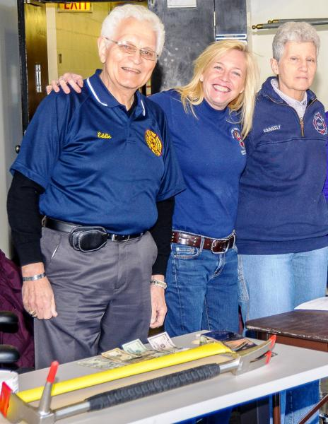 (L to R)Honor Legion Member Capt. Eddie Fusco, Gwen Curran NYFF Burn Center, Janet Kimmerly Editor WNYF