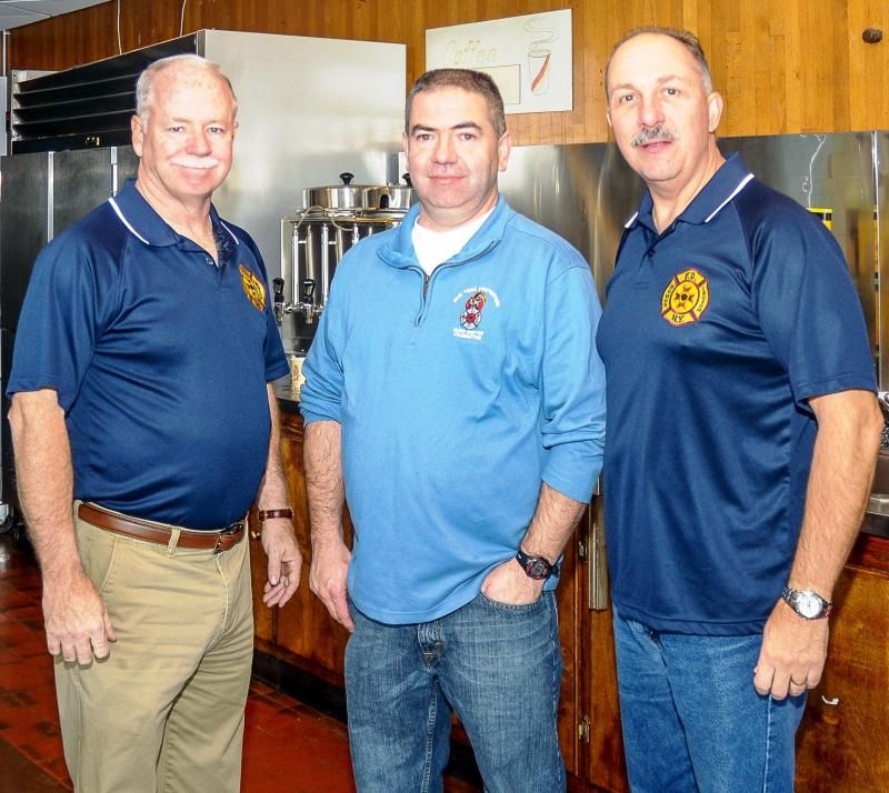 (L to R) Lt. Mickey Conboy, NYFF Burn Center Foundation President Fr. Bill Leahy, DC Tom Richardson