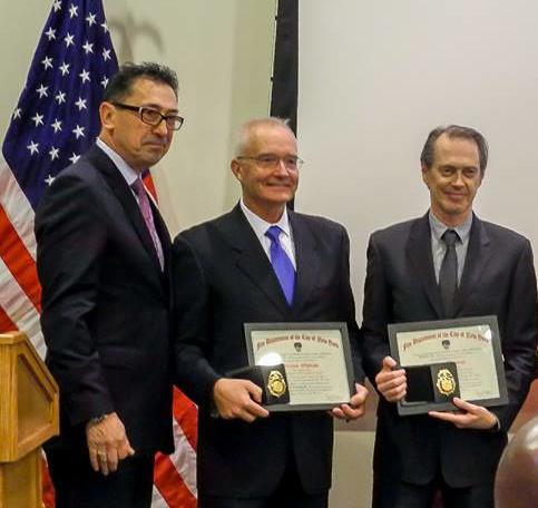 Commissioner Nigro, Dennis Whittam, Steve Buscemi