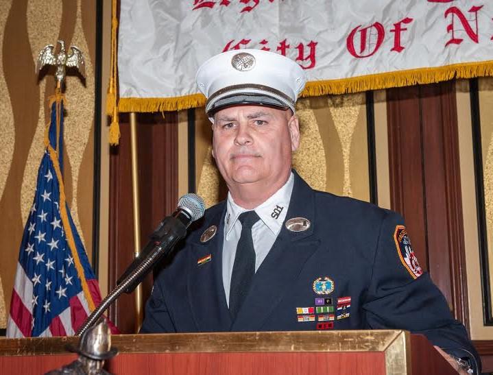 President Lt. Paul Mastronardi addresses audience